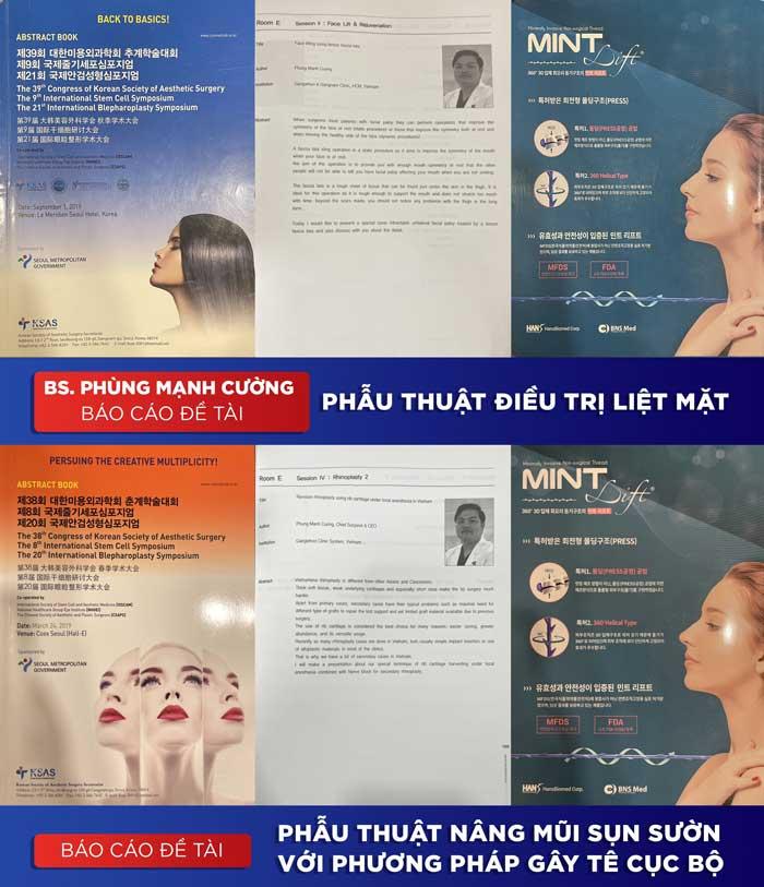Đề tài nâng mũi bác sĩ Phùng Mạnh Cường báo cáo tại Hội nghị quốc tế