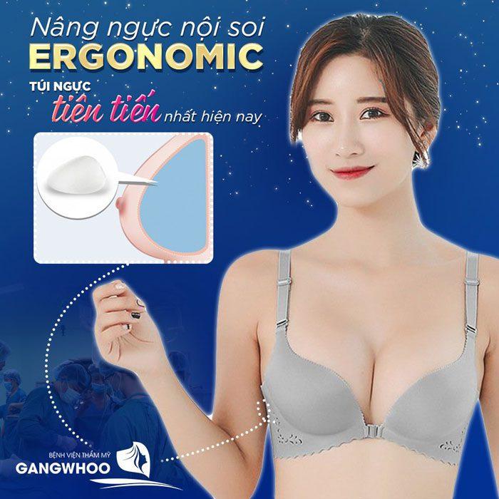 Nâng ngực túi Ergonomic