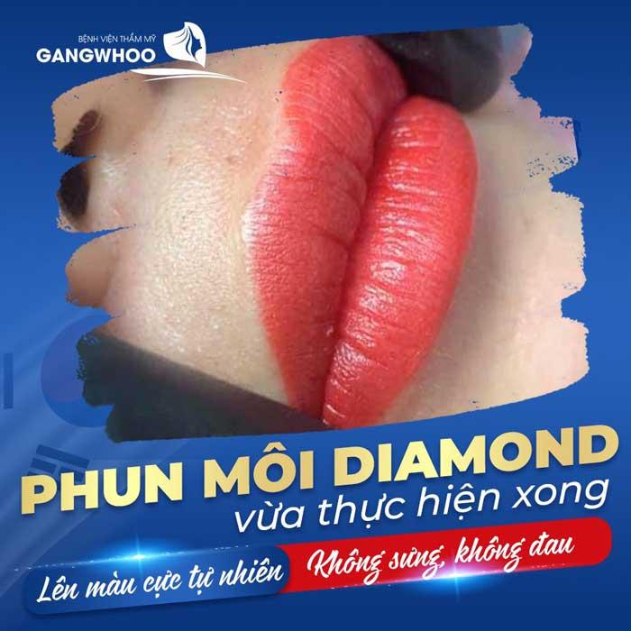 phun môi diamond
