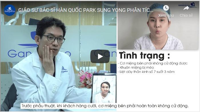 bác sĩ Park Sun Yong phân tích điều trị liệt mặt