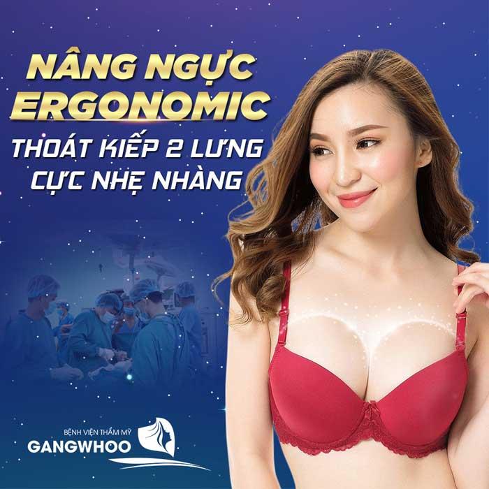 Nâng ngực nội soi túi Ergonomic là công nghệ hiện đại