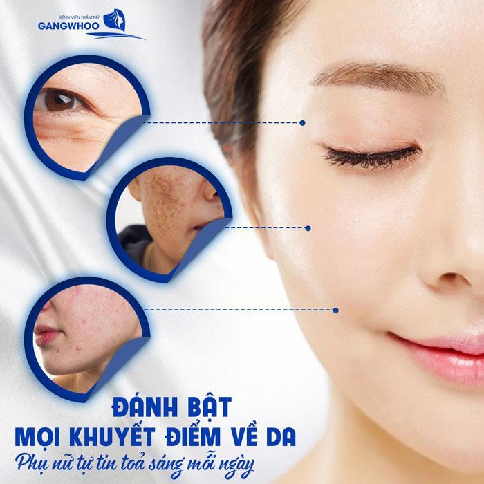 các dịch vụ điều trị da tại bệnh viện thẩm mỹ Gangwhoo được nhiều khách hàng tin tưởng