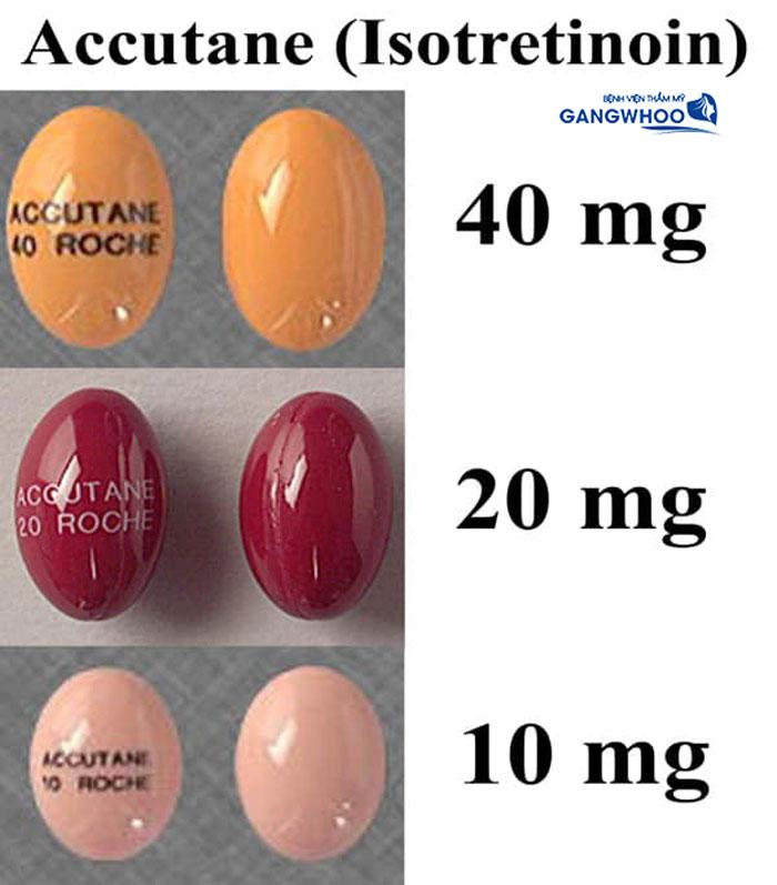 Mốt số liều lượng của thuốc trị mụn Isotretinoin