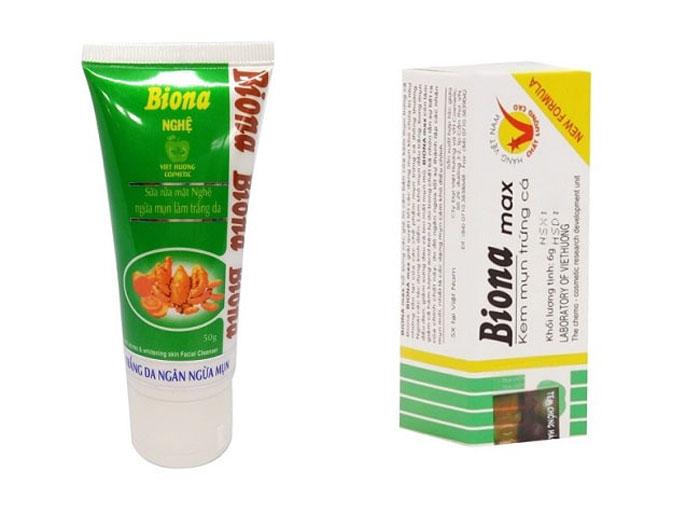 Nên dùng kem trị mụn Biona Max hay kem nghệ Biona