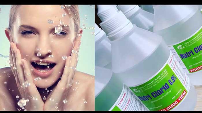 Nước muối sinh lý hỗ trợ trị mụn hiểu quả