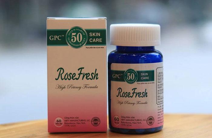 Thuốc uống trị mụn trứng cá Rose Fresh